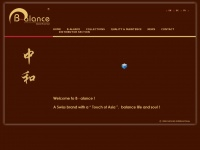 """B-alance.ch - Welcome to B-alance! A Swiss brand with a """"touch of Asia"""", balance life and soul!"""