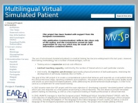 Mvsp.info - Multilingual Virtual Simulated Patient