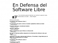 Endefensadelsl.org - En Defensa del Software Libre