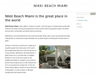Nikkibeachmiami.org - Nikki Beach Miami Everything you Need to know about Nikki Beach