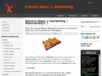 Kimera ideas y marketing - Empresa madrileña de servicios de marketing e internet.