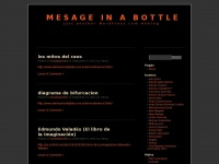Mesage in a bottle | Just another WordPress.com weblog