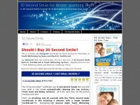 30secondsmileonline.org - 30 Second Smile For Whiter sparkling Teeth | Is 30 Second Smile A Scam Or A Revolution in Oral And Gum Care