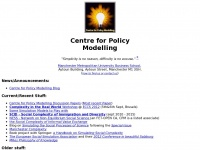 Cfpm.org - Centre for Policy Modelling